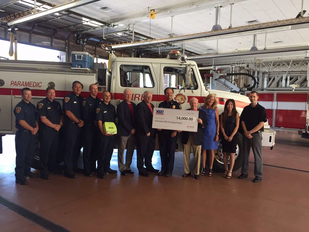 Press Release: AED Grant Awarded
