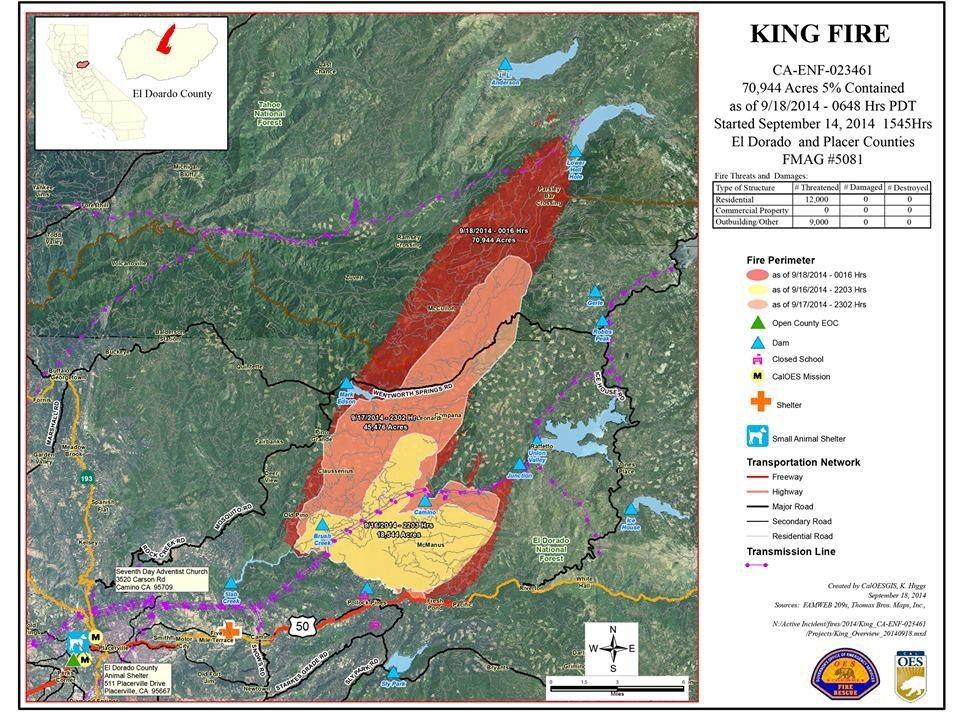 King Fire Update