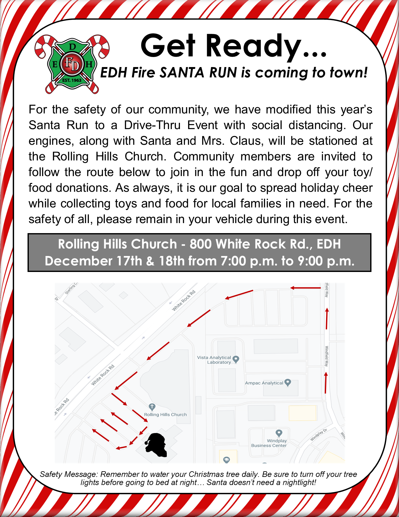 Santa Run flyer 2020 Drive Thru final